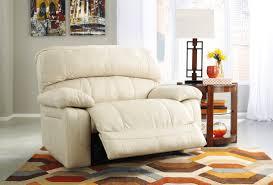Wide Chairs Living Room Damacio Cream Zero Wall Power Wide Recliner From Ashley U9820182