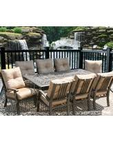 outdoor dining sets for 8. Outdoor Patio Furniture 9pc Dining Set For 8 Person With Rectangle Table Outdoor Dining Sets