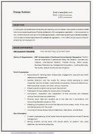 Curriculum Vitae Format For It Freshers Cv Resume Biodata Samples