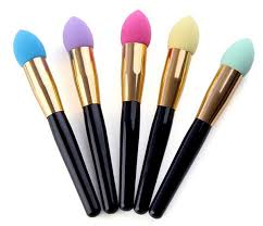 5 pcs new professional malfunctional colourful gourd shape hydrophilic sponge and cosmetic makeup brush