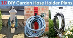 10 diy garden hose holder plans
