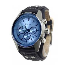 fossil ch2564 chronograph blue dial black leather band men watch new fossil ch2564 chronograph blue dial black leather band men watch new