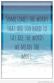 What Does Quote Mean 24 Inspiration Sometimes The Things You Can't Say Mean The Most But You Can't Them