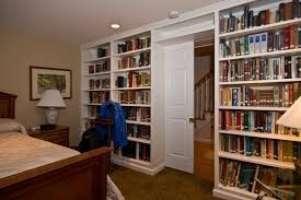 basement apartment ideas. Wonderful Basement Apartment Ideas With Father-in-law Built-in Bookshelves