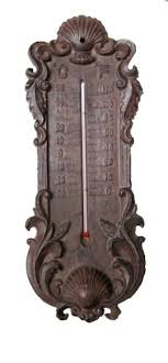 elegant cast iron metal thermometer