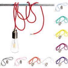cable pendant lighting. 2M E27/E26 Vintage Fabric Cable Pendant Light Hanging Filament Lamp Bulb Holder Socket Lighting