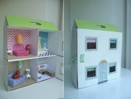 make cardboard furniture. Completed Dolls House Make Cardboard Furniture