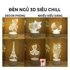 Đèn Ngủ 3D Led đẹp để bàn đầu giường thông minh hiện đại hình dễ thương  derco phòng ngủ ngàn sao Lamp 3D NAVADO giá cạnh tranh