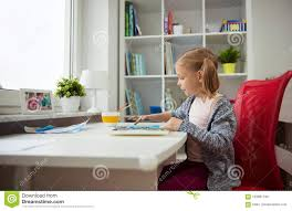 home office colorful girl. Royalty-Free Stock Photo Home Office Colorful Girl N