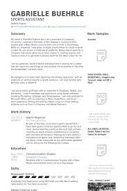 Sports Resume Template Commily Com