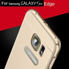 samsung galaxy s6 gold case. brand logo gold case for samsung galaxy s6 edge luxury aluminum acrylic back phone cover f