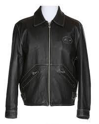 harley davidson black leather biker jacket l