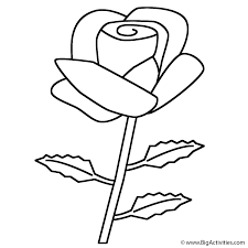 Small Picture Rose Coloring Page Valentines Day