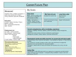 career plan career plan example