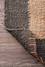 nuloom natural hand woven cameron jute area rug 5 x 8