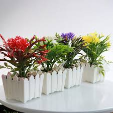 office pot plants. All New Creative Plastic Artificial Plants Flower Bonsai Tree Pot Culture Miniature For Office Living