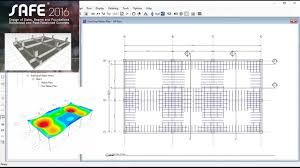Reinforced Concrete Pad Foundation Design Example Csi Safe 10 Analysis Design And Detailing Of Slab Part 1 2