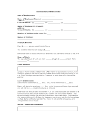 Student Agreement Contract nanny agreement contract template - April.onthemarch.co
