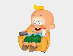 funny baby boy playing cartoon clipart