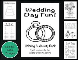 Wedding Coloring And Activity Book Reception Game Kids Wedding