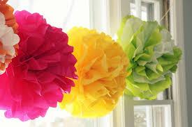 How To Make Fluffy Decoration Balls Tissue PomPom Tutorial Darling Doodles 87