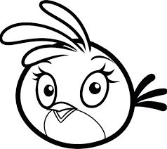 Pink Bird Angry Birds Coloring Pages