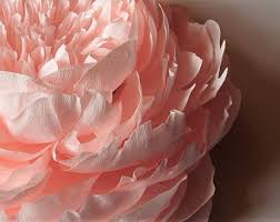 How To Make Big Lotus Flower From Paper Crepe Paper Flowers Etsy