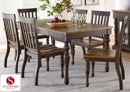 dunmore 7 piece dining table set brown