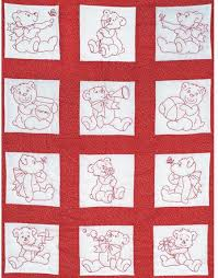 Quilt Squares - Embroidery Patterns & Kits - 123Stitch.com & Baby Bears Nursery Quilt Squares - Embroidery Kit by Jack Dempsey Needle  Art Each package contains one set of twelve - 9