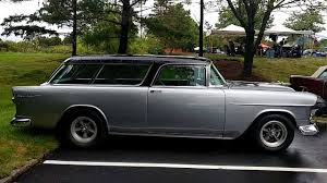 1955 SILVER BODY BLACK TOP CHEVROLET BEL AIR NOMAD STATION WAGON ...