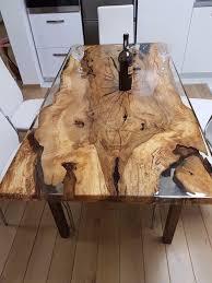 unique 6 person epoxy resin table in home garden furniture tables ebay