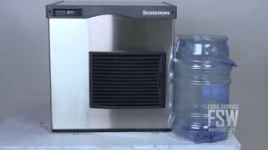 Pebble Ice Machine Scotsman N0422a 1a 420 Lb Nugget Ice Machine Youtube