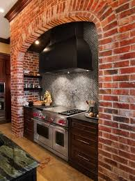 Exposed Brick Kitchen Kitchen Earthy Kitchen With Exposed Brick Wall And Mosaic