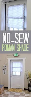 How to make a no sew Roman shade for your window or door. This one ...
