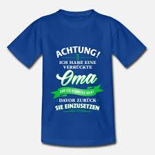 Achtung Verrückte Oma Verwandte Familie Kind Kinder Premium T Shirt