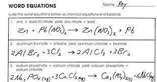 word equations worksheet answers homeschooldressage com