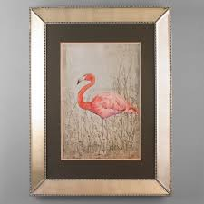 fancy mirror frame. 49x37 Fancy Flamingo Mirror Framed Art Pink_and_coral_and_rose_left_facing Frame