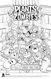 Download And Color For Free Plants Vs Zombies In 2019