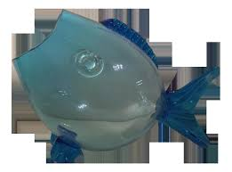 vintage blenko glass vase beautiful cobalt blue swung mid