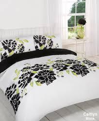 duvet quilt cover bedding set black white single double king kingsize super king