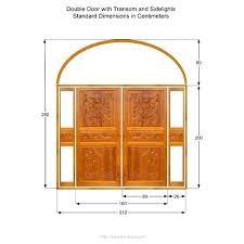 standard front door thickness single std a double exterior jamb width cm