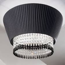 pauline antealuce ceiling design chandelier lampshade plisse and coloured crystals