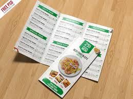 Restaurant Menu Trifold Brochure Psd Template Psdfreebies Com