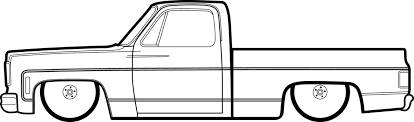 square body c10 drawing transpa