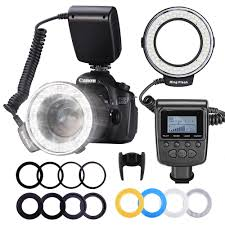 Godox Ring 48 Macro Ring Light Us 25 47 8 Off Neewer 48 Macro Led Ring Flash Light Lcd Display Rf550d With Four Diffusers 8 Adapter Rings For Nikon Canon Panasonic Pentax In