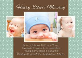 Baby Thankyou Baby Boy And Girl Birth Announcement Cards Personalised Baby Thank