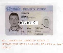 Virginia Driver's Semenko's License Mikhail