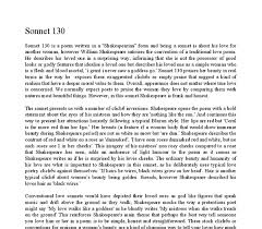 sonnet analysis william shakespeare satirises the convention document image preview