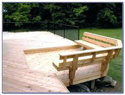 how do you build deck benches bench plans brackets ideas 3asy