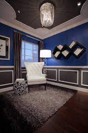 13 grey and royal blue decor ideas